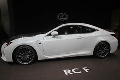 Witte 2015 Lexus RCF Conceptenauto Royalty-vrije Stock Afbeelding