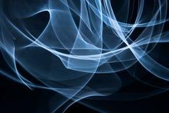 Witte lichte plonsen in dark Stock Afbeeldingen