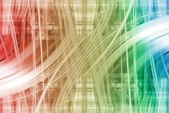 Witte lichte slepen op een kleurrijke achtergrond Royalty-vrije Stock Afbeelding