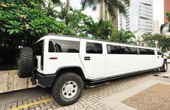 Witte limo Stock Fotografie