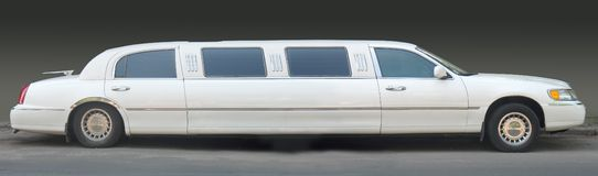 Witte limousine Stock Afbeelding