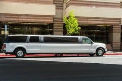 Witte limousine stock foto's