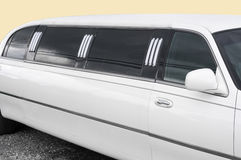 Witte limousine - detail stock afbeelding