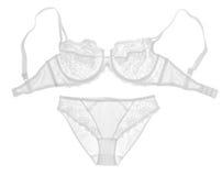 Witte lingeriereeks Stock Foto's