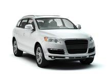 Witte luxe SUV Royalty-vrije Stock Afbeeldingen