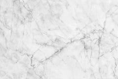 Witte marmer gevormde textuurachtergrond Het marmer van Thailand, vat natuurlijke marmeren zwart-wit (grijs) voor ontwerp samen Stock Afbeeldingen