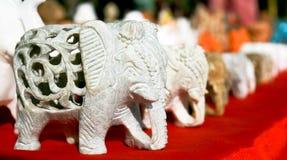 Witte marmeren olifant royalty-vrije stock fotografie