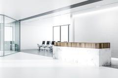 Witte marmeren ontvangst, het open binnenland van het planbureau vector illustratie
