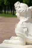 Witte marmeren sfinx Stock Afbeeldingen