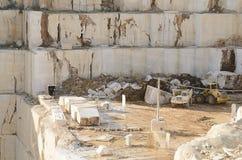 Witte marmeren steengroeve Royalty-vrije Stock Foto