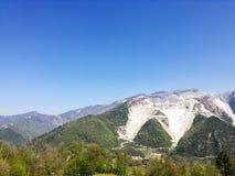 Witte marmeren steengroeven, Codena, Carrara, Italië royalty-vrije stock afbeelding