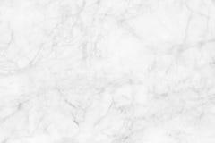 Witte marmeren textuur, gedetailleerde die structuur van marmer in natuurlijk voor achtergrond wordt gevormd en ontwerp Royalty-vrije Stock Afbeelding