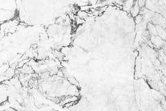 Witte marmeren textuur met natuurlijke patroonachtergrond Royalty-vrije Stock Afbeelding