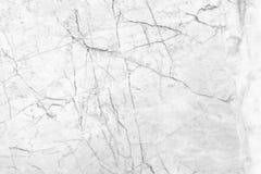 Witte marmeren textuur met natuurlijke patroonachtergrond Stock Afbeeldingen