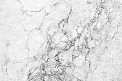 Witte marmeren textuur met natuurlijke patroonachtergrond Royalty-vrije Stock Foto's