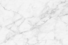 Witte marmeren textuurachtergrond, gedetailleerde die structuur van marmer in natuurlijk voor ontwerp wordt gevormd Stock Foto's
