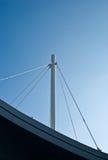 Witte mast op dak Stock Foto