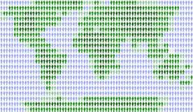 Witte mensen en wereld, Stock Foto
