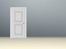 Witte met panelen beklede deur Stock Foto's