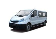 Witte minibus stock afbeeldingen