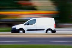 Witte minivan Royalty-vrije Stock Foto's