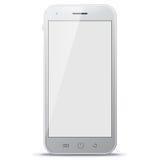 Witte Mobiele Telefoon Vectorillustratie Royalty-vrije Stock Foto's