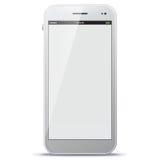 Witte Mobiele Telefoon Vectorillustratie Royalty-vrije Stock Afbeeldingen