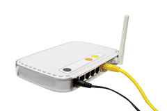 Witte modem. Royalty-vrije Stock Foto