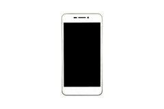 Witte moderne die smartphone op witte achtergrond wordt geïsoleerd Stock Foto