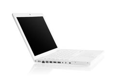 Witte moderne laptop Royalty-vrije Stock Afbeelding