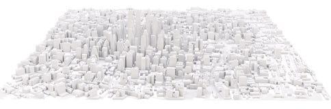 Witte moderne stad Stock Fotografie