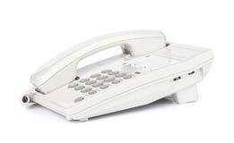 Witte moderne telefoon Stock Foto's