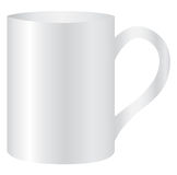 Witte mok lege spatie voor koffie of thee Stock Afbeeldingen