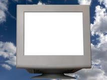 Witte monitor stock fotografie