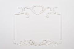 Witte mooie rechthoekige gipspleister Stock Foto's