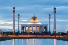 Witte moskee Royalty-vrije Stock Afbeelding