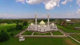 Witte moskee in Bolgar stock videobeelden