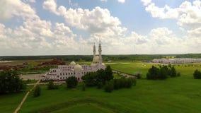 Witte moskee in Bolgar stock footage