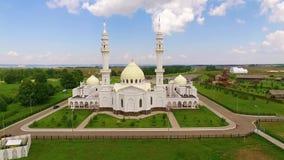 Witte moskee in Bolgar stock video