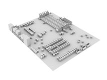 Witte motherboard Stock Fotografie