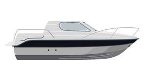 Witte motorboot Stock Afbeelding