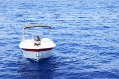 Witte motorboot Royalty-vrije Stock Afbeelding