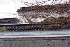 Witte muren en zwart spectrum tegel-Qingyun Stock Afbeeldingen