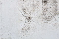Witte muur met barsten Stock Fotografie