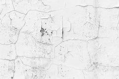 Witte muur met barsten voor achtergrond Royalty-vrije Stock Foto