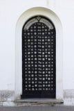 Witte muur met een deur Royalty-vrije Stock Fotografie