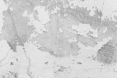 Witte muur, witte muur met barsten voor achtergrond Stock Fotografie