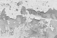 Witte muur, witte muur met barsten voor achtergrond Stock Foto