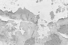 Witte muur, witte muur met barsten voor achtergrond Royalty-vrije Stock Afbeeldingen