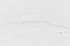 Witte muur, witte muur met barsten voor achtergrond Royalty-vrije Stock Afbeelding